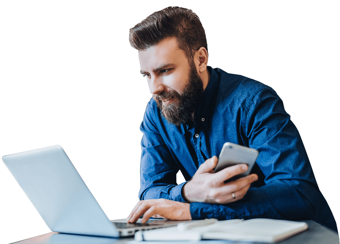 BusinessMan image with laptop